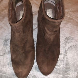 Steve Madden suede Brown booties size 10